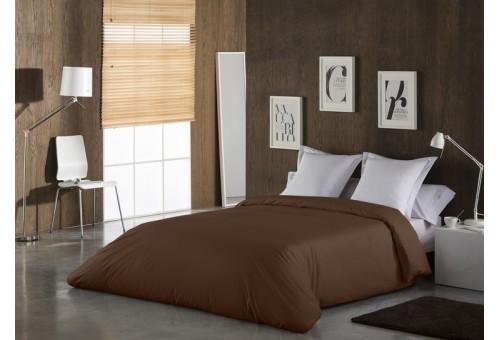 Funda nórdica COMBI LISOS. 100% algodón (144 hilos) 025-CAFE