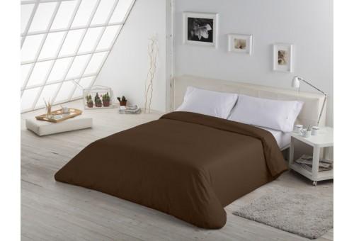 Funda nórdica COMBI LISOS. 100% algodón (200 hilos) 179-CHOCOLATE