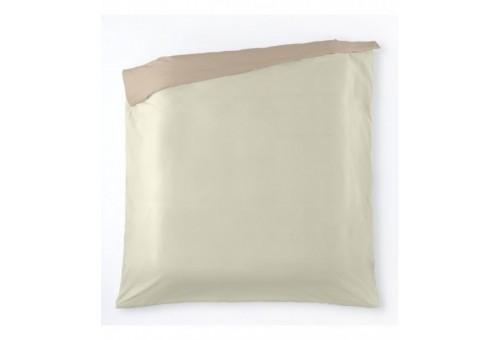 Funda nórdica algodón Liso bicolor. Es-Tela 319-MARFIL-PIEDRA