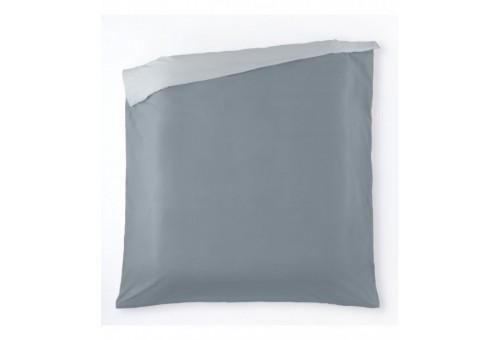 Funda nórdica algodón Liso bicolor. Es-Tela 315-PERLA-ACERO