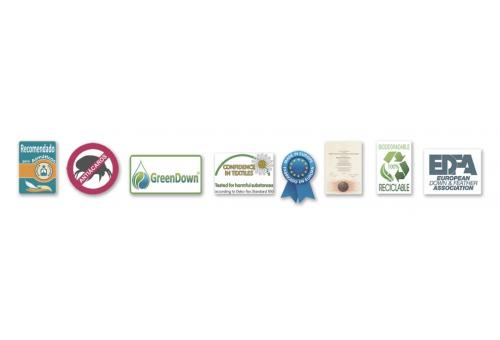 Ferdown Piumino d´Oca 4 stagioni 720 CUIN | Ferdown - 3 Relleno Nordico 100% Plumón Blanco Supreme Europeo| Gobi COMBI120+90 g