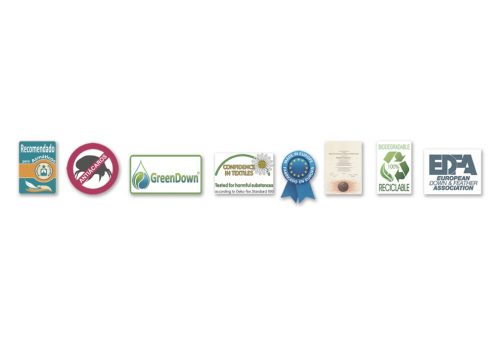 Ferdown Couette naturelle 100% Duvet D'Eider canard 900 CUIN | Ferdown - 3 Relleno NordicoExclusivo 100% Eider| Gobi80grs/m2
