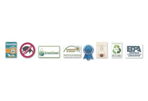 Ferdown Eider Down Duvet 900 CUIN 80 grs| Ferdown - 3 Relleno NordicoExclusivo 100% Eider| Gobi80grs/m2 confecciónKASSETTEN