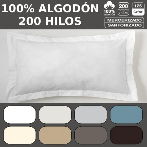 Funda cojín algodón Combi Liso 200 Hilos