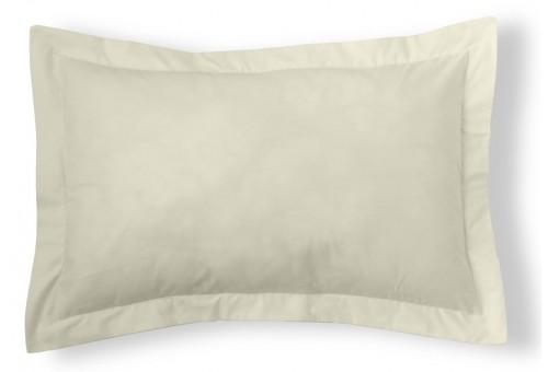 Funda cojín algodón Combi Liso 200 Hilos 255-MARFIL