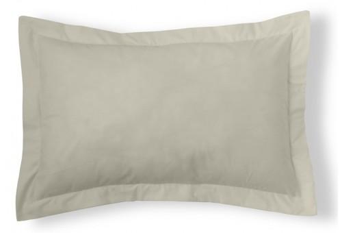 Funda cojín algodón Combi Liso 200 Hilos 138-PIEDRA