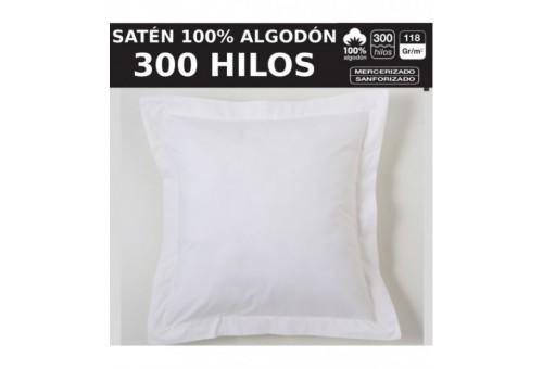 Funda cojín algodón Combi Satén. Algodón de 300 hilos