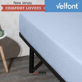 Velfont Fitted Sheet | New Jersey Azul Sky