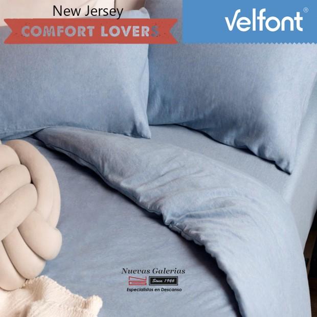 Velfont Duvet Cover   New Jersey Azul Sky