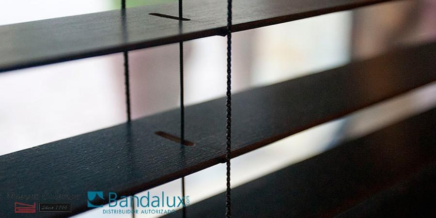 Motorjalousie aus Holz 50mm | Bandalux