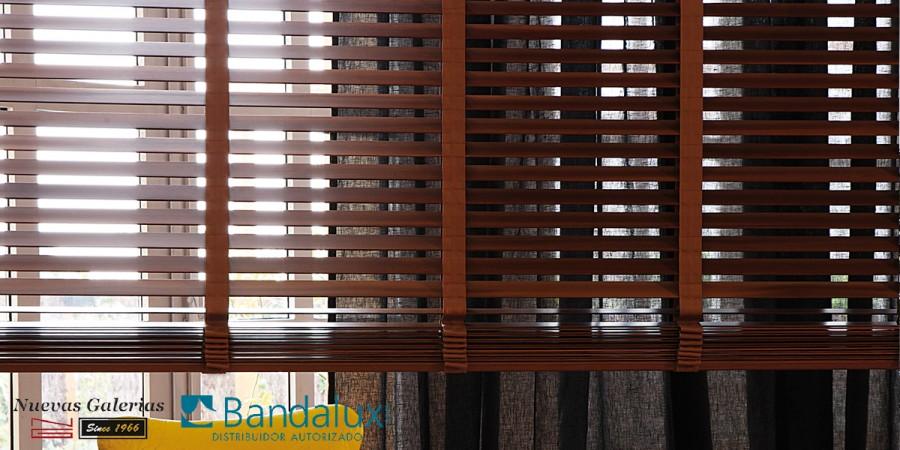 Cortina Veneciana Madera 50mm con Cinta | Bandalux