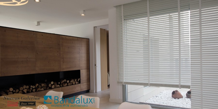 Store Vénitien Bois avec Galon 50mm | Bandalux