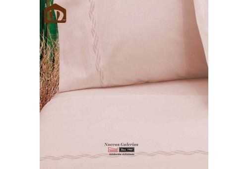 Manterol Sheet Set - Bamboo pink 300 threads