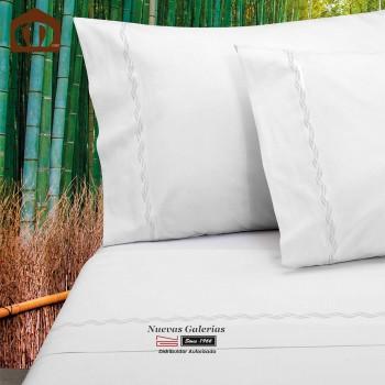 Juego de Sabanas Manterol | Bambu 300 hilos Blanco