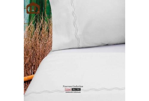 Juego de Sabanas Manterol   Bambu 300 hilos Blanco