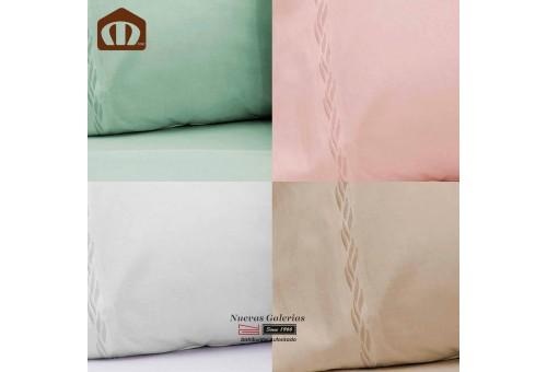 Sommerbettwäsche Manterol | Bamboo Weiß - 300 Fäden
