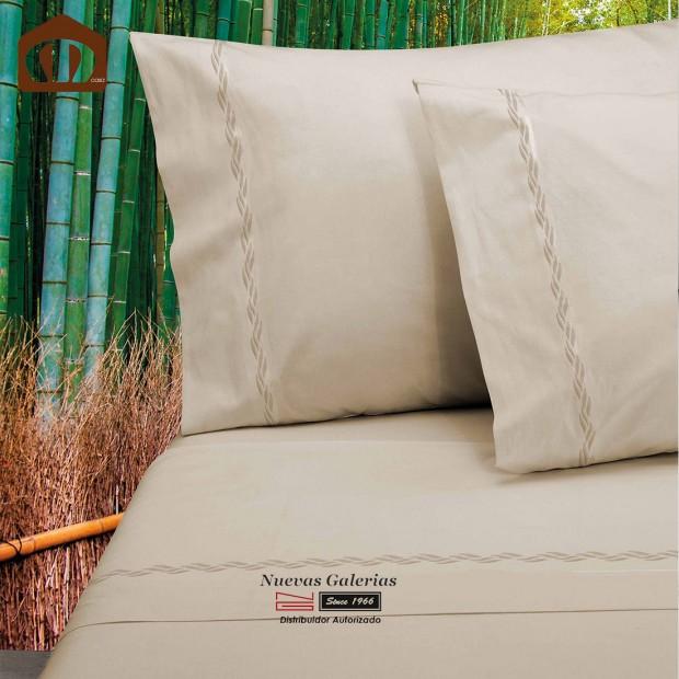 Completo Lenzuola Manterol   Bambu Beige - 300 fili