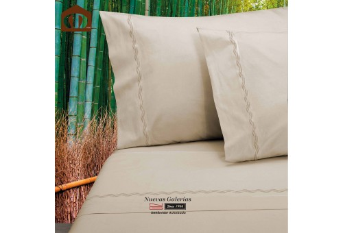 Manterol Sheet Set - Bamboo Beige 300 threads