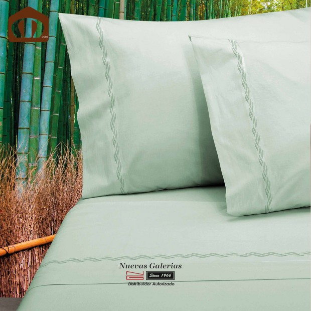 Completo Lenzuola Manterol | Bambu Verde - 300 fili