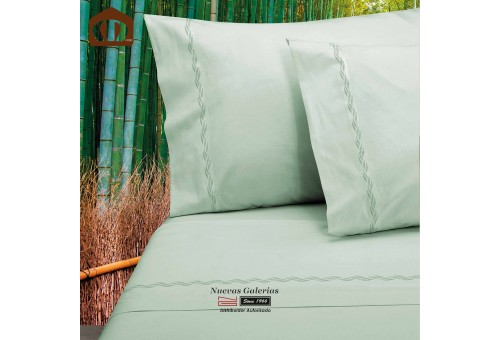 Manterol Sheet Set - Bamboo Green 300 threads