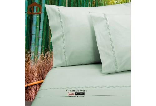 Sommerbettwäsche Manterol | Bamboo Grün - 300 Fäden