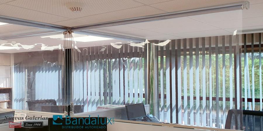 Store enrouleur Bandalux séparateur Covid-19 | PROTECT SHIELD
