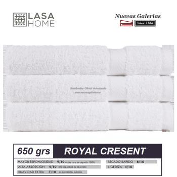 Toalla Algodón peinado 650 g / m² Blanco | Royal Cresent
