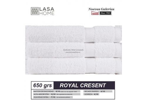100% Baumwolle Handtuch Set 650 g / m² Weiß | Royal Cresent