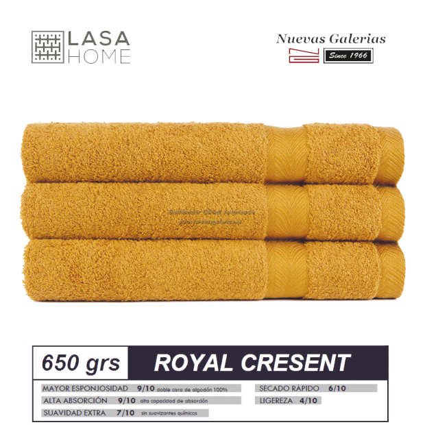Toalla Sunset Algodon 650 gramos | Royal Cresent