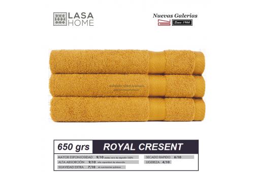 Toalla Algodón peinado 650 g / m² Amarillo Miel | Royal Cresent