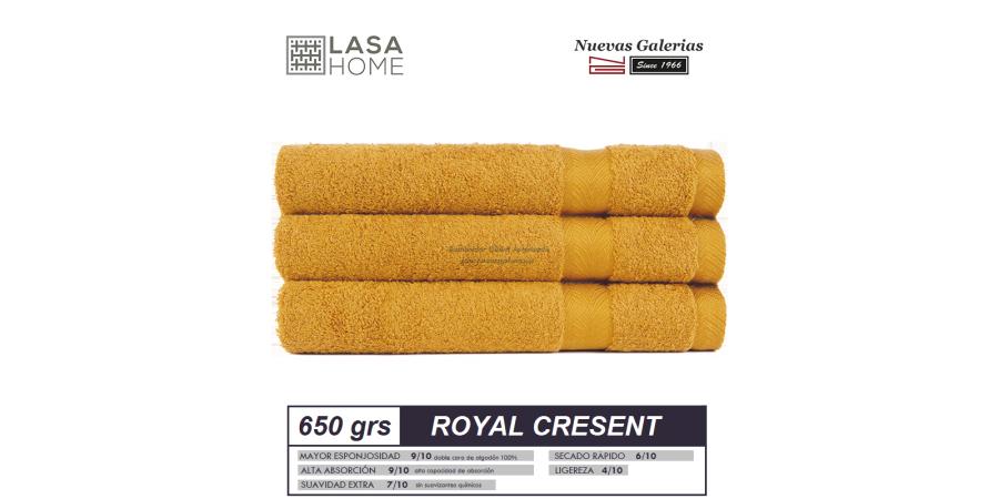 Serviettes 100% Coton 650 g / m² Jaune Miel   Royal Cresent