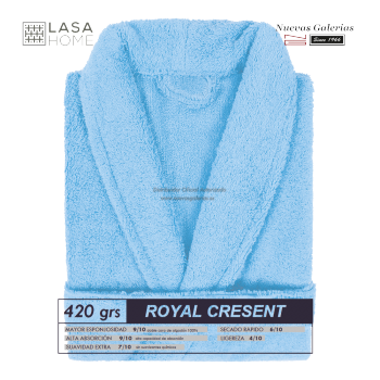 Albornoz cuello Smoking Azul cielo | Royal Cresent