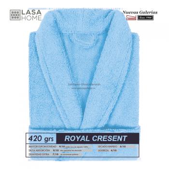 Bademantel Schalkragen Himmelblau | Royal Cresent