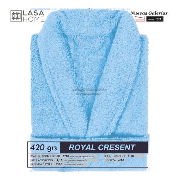 Albornoz Sky Blue Algodon   Royal Cresent