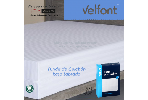 Funda de Colchón Raso labrado Blanco | Velfont CUNA