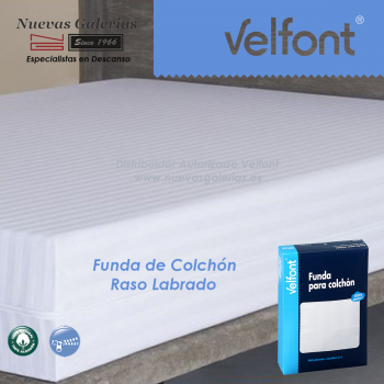 Satin Stripe Coutie fully enclosed mattress cover | Velfont