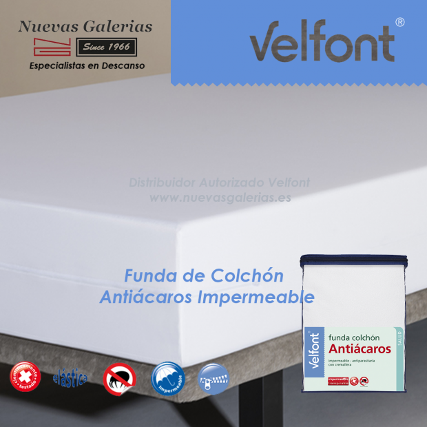 Coprimaterasso antiacaro impermeabile elastico | Velfont