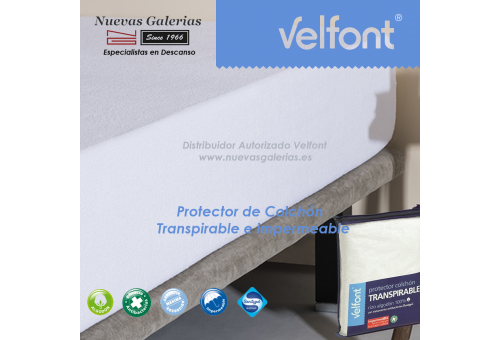 Waterproof & Breathable Terry Cotton mattress protector | Velfont