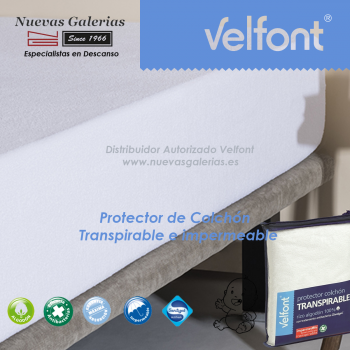 Velfont Krippe Matratzenschoner Wasserdicht-Atmungsaktiv