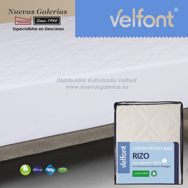 Pad Terry Cloth Reversible quilted mattress protector | Velfont