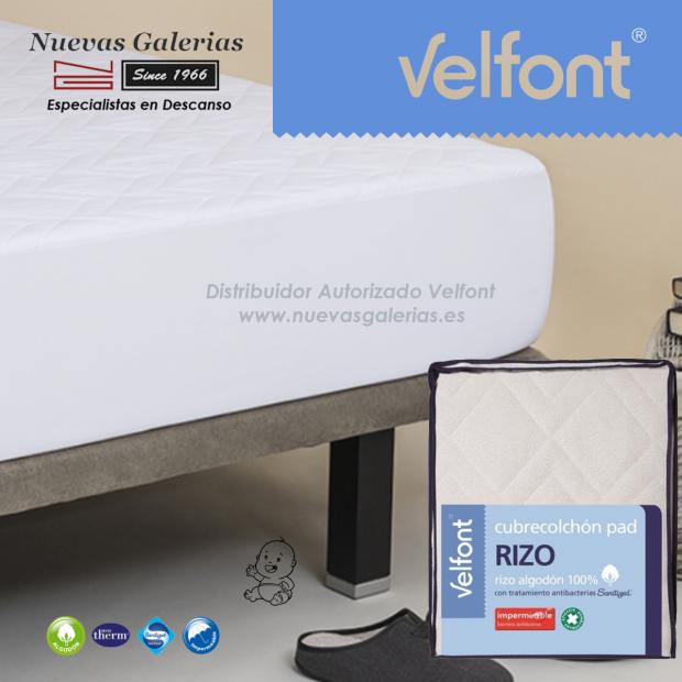 Cubrecolchón Pad Rizo Impermeable | Velfont CUNA