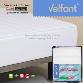Velfont Anti-Milben Gesteppter Matratzenschutz Wendbar | Acarsan