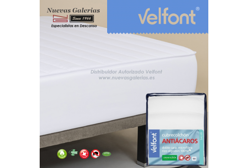 Anti-dustmite reversible quilted mattress protector | Velfont