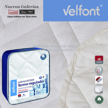 Thermo-regulator 100% cotton quilted mattress protector | Velfont