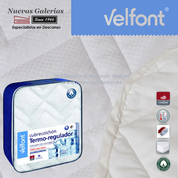 Cubrecolchón Termoregulador | Velfont