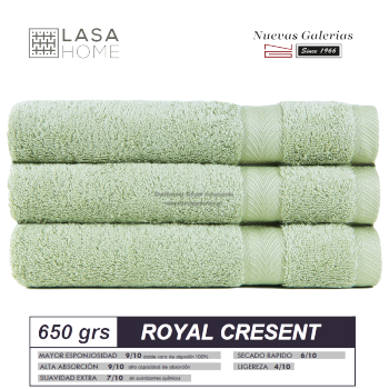 100% Cotton Bath Towel Set 650 gsm Celadon Green | Royal Cresent