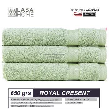 Toalla Algodón peinado 650 g / m² Verde Celadon | Royal Cresent
