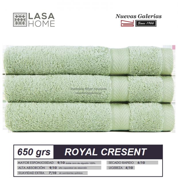 100% Baumwolle Handtuch Set 650 g / m² Seladongrün   Royal Cresent