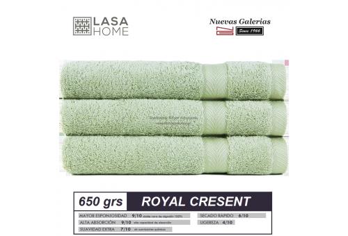 100% Baumwolle Handtuch Set 650 g / m² Seladongrün | Royal Cresent