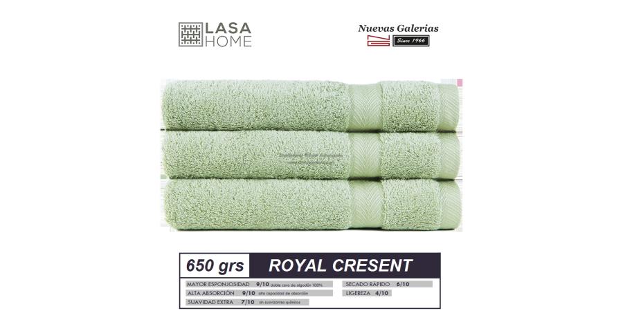 Serviettes 100% Coton 650 g / m² Vert céladon   Royal Cresent